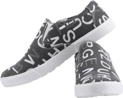 Claude Lorrain Grey Canvas Shoes