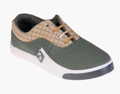 Fluid Green Check Canvas Shoes