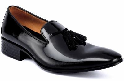 Nudo Slipon Black Patent Party Wear Shoes