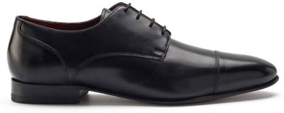 Heel & Buckle Cap-Toed Derby Lace Up Shoes