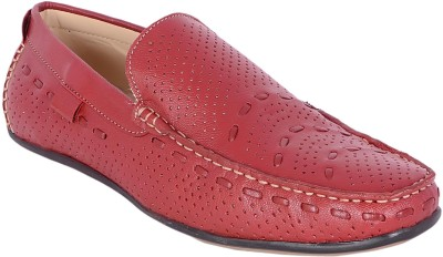 Jordan Kids Jordan Trendy Red Leather Loafers Loafers