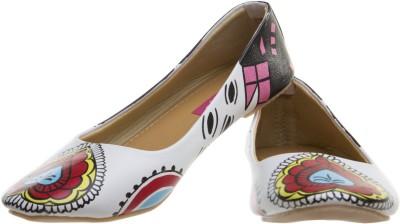 Al Artz Hand Painted Shoes Funky Casual Ballerina(Multicolor)