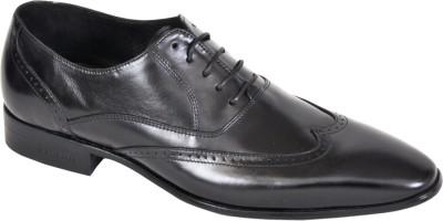 Pinellii Phoenix Oxford Black Lace Up Shoes
