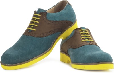 Perseus Men Corporate Casuals(Blue, Brown)