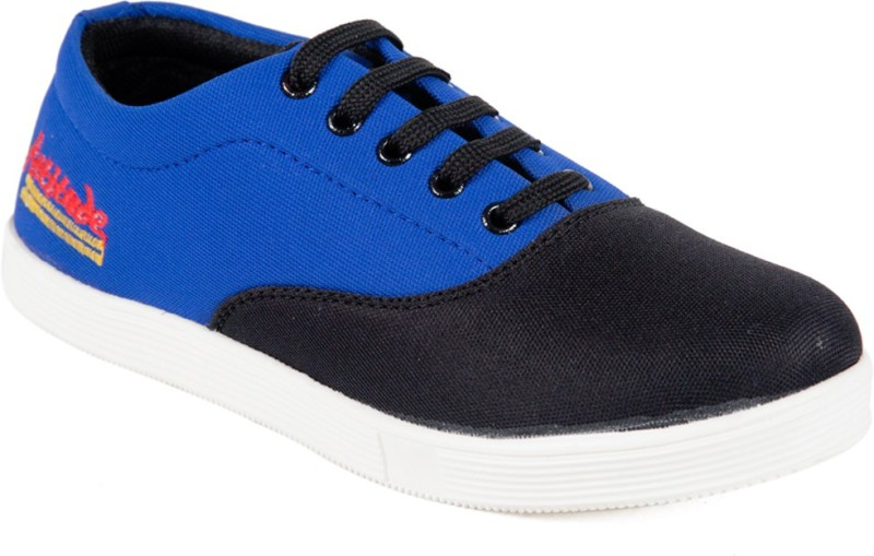 Adjoin Steps Canvas Shoes(Black, Blue)