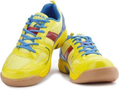 Nivia Smash Badminton Shoes(Yellow, Blue, Red)