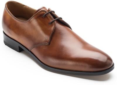 Heel & Buckle Plain Derby Shoes Lace Up
