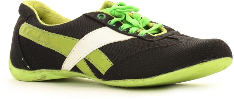 Select Black-Green Sporty Walking Shoes(Black)