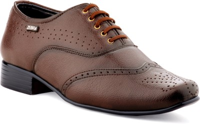 Zebra High Defination Men's 100% Pure S.Leather Brown Oxford Brogue Shoes Lace Up