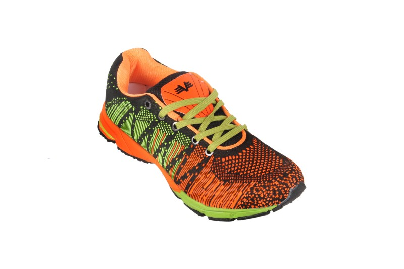 Vijayanti V Knit Knitted Running ShoesBlack Orange