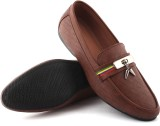 Boron Leather Look Loafers (Brown)