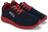 Stag Suede Sneakers (Navy, Red)