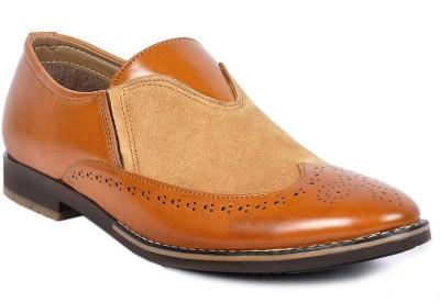 Footlodge Stylish Tan Brogue shoe Slip On
