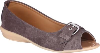 Shibha Footwear Brown Peep Toe Bellies