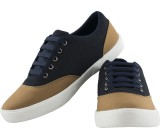 Crab Shoes Canvas Shoes (Camel, Navy)
