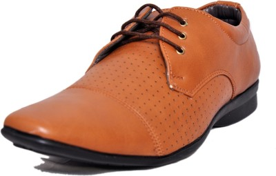 West Code Men's Synthetic Leather Casual Shoes D-71-Tan-8 Casuals