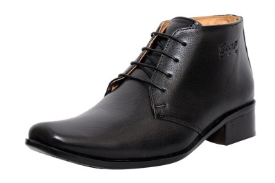 Zoom Zoom Men's Pure Leather Formal Shoes G-71-Black-8 Lace Up