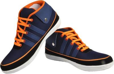 NY Eagle Blue Black Canvas Shoes