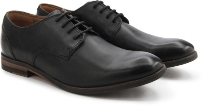Clarks Exton Walk Black Leather lace up