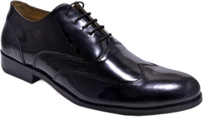 Hirels Mens Patent Leather Brogues Lace Up Shoes