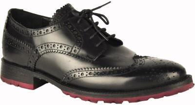 Salt N Pepper Rafael Black Lace Up Casual Shoes
