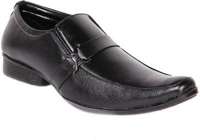 Dox Black Slip On Shoes