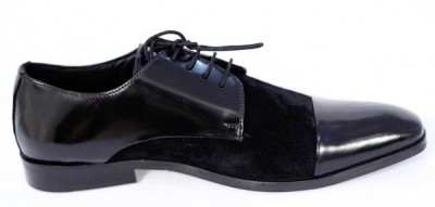 Zetoes Patent Leather & Suede Oxfords Party Wear