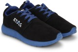Stag Suede Sneakers (Black, Blue)