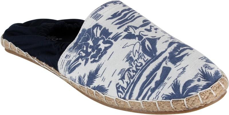 Zobello Beachy Summer with Elastic Canvas ShoesBlue SHOEKD798FD7SSDY
