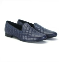 Bareskin Navy Blue Leather Casual Shoes(Navy)