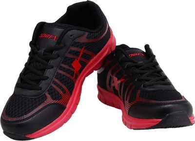 Sparx Trendy Black Red Running Shoes
