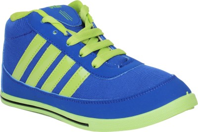 Histeria Suncity Blue With Yellow Stripes Casual Shoes