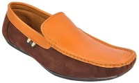 Raja Fashion Synthetic Tan and Brown Loafers