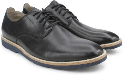 Clarks Gambeson Walk Black Leather Lace Up