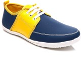 FNB F-29 Casual Shoes (Blue, Yellow)