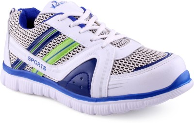 Xtrafit C One White R Blue Sports Running Shoes
