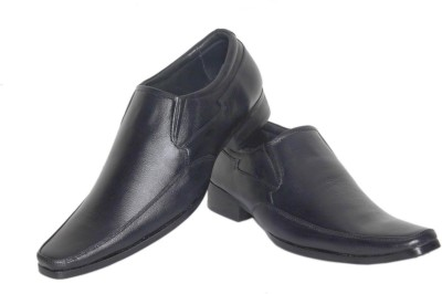 Azzaro Black Genuine Leather Hippy Slip On Shoes