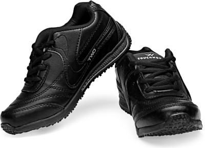 TOUCHWOOD Noble Grip Black Sports Running Shoes