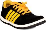 Sam Stefy Walking Shoes (Black, Yellow)