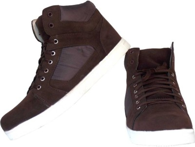 Leather Like Brown Sneakers