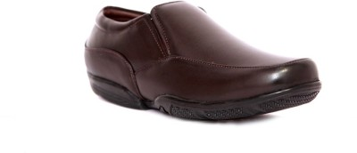 IShoes Real Brown Slip On Shoes