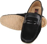 Nexq Black Loafers (Black)