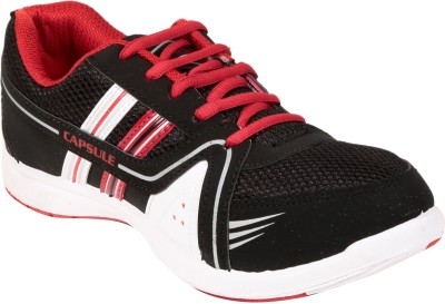 Columbus Capsule002 Black Red Running Shoes, Cricket Shoes