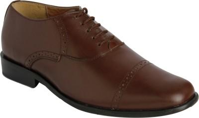 Claude Lorrain Brown Semi Brogue Lace Up Shoes