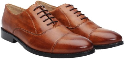 Brune BRUNE MEN TAN LEATHER FORMAL SHOES Lace Up