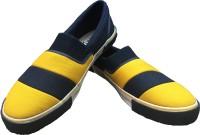 Rexona Kicker-023-Navy-Yellow Casual Shoes(Navy)