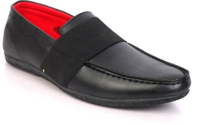 Sole Strings Mens Loafers Shoes(Black)