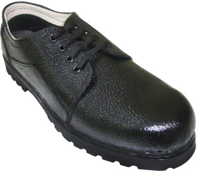 Jk Port Mens Safety Synthetic Leather With Extra Comforts Lace Up Shoes