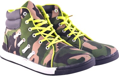 FX Style Army Printed Ankle Footwear Casuals