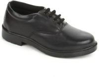 Liberty Skoolboypu-Black Lace Up Shoes(Black)